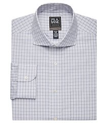 travel tech collection slim fit cutaway collar plaid shirt clearance, by jos. a. bank