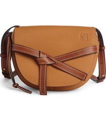 loewe gate small leather crossbody bag - brown