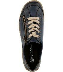skor med snörning och dragkedja remonte blå