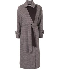 onefifteen mid-length belted coat - red