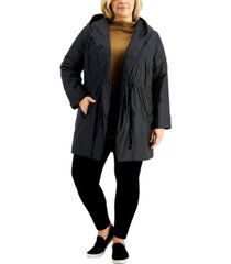 eileen fisher plus size hooded coat