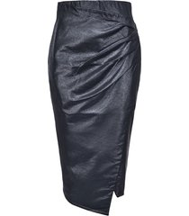 pinko metallic coated skirt - black