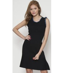 vestido fashion sin mangas negro 609seisceronueve