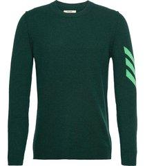 kennedy c arrow int sweater cashmere intarsia slee stickad tröja m. rund krage grön zadig & voltaire