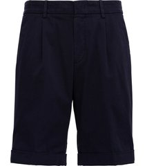 z zegna blue cotton bermuda shorts