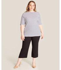 camiseta mujer rayas manga corta