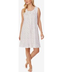 eileen west floral-print ruffled jersey nightgown