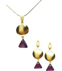 conjunto beatriz dorado con swarovski joyas montero