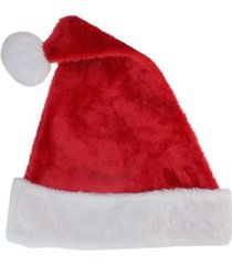 "northlight 17"" traditional red and white plush christmas santa hat - adult size large"