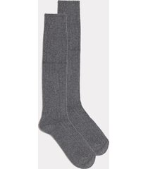 calze lunghe pesanti in cashmere e lana