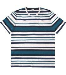 camiseta tradicional listrada wee! branco - m