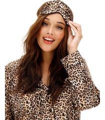 leopard pajama set with eyemask