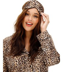 leopard pajama set with eyemask