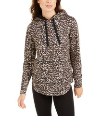 ideology leopard round-hem hoodie, created for macy's
