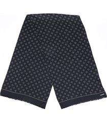 chanel polka dot silk scarf black/cream sz: