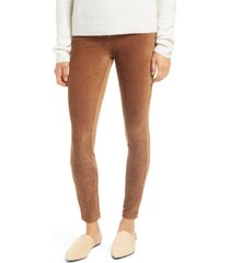 hue corduroy leggings, size x-large in caramel at nordstrom