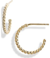 knotty twisted mini hoop earrings in gold at nordstrom