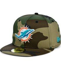 new era miami dolphins woodland 59fifty cap