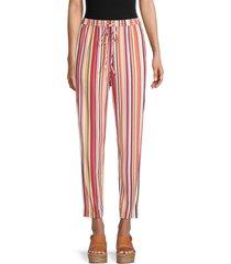 bcbgeneration women's multicolored striped pants - size xs
