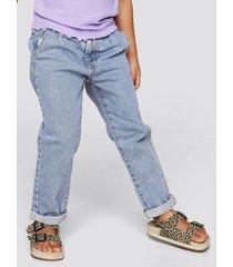 jeans med stretch - mellanblå