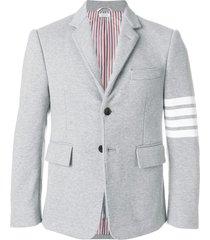 4-bar stripe classic jersey sport jacket light grey