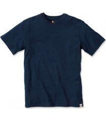 carhartt t-shirt men maddock non pocket short sleeve navy-s