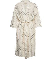 dotted celestial robe jurk knielengte wit moshi moshi mind