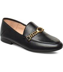 helena c chain loafer- leather loafers låga skor svart coach
