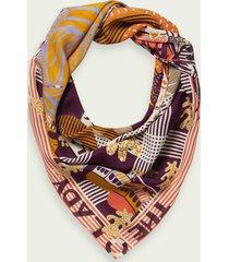 scotch & soda printed silk scarf