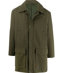 a.n.g.e.l.o. vintage cult 1990s oversized single-breasted coat - green
