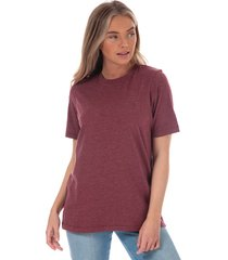 henri lloyd womens jayne short sleeve marl crew t-shirt size 16 in red