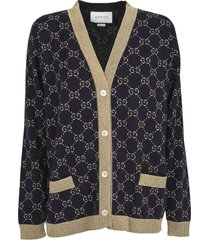 gucci cardigan with gg pattern