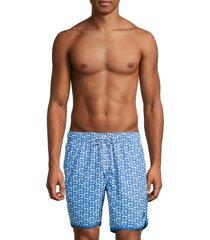 mr swim men's oyster shell print swim shorts - spanish red - size xl