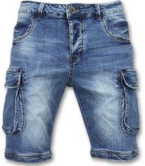 korte broek enos korte spijkerbroek -shorts spijker - j981 -