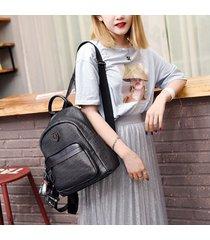 mochila de mujer, lentejuelas de moda de gran capacidad para mujer-negro