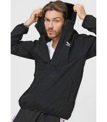 chaqueta negro adidas originals cortavientos essential