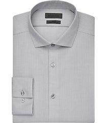 calvin klein infinite slate jacquard slim fit dress shirt