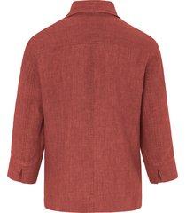 blouse van 100% linnen met 3/4-mouwen van peter hahn oranje