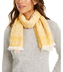calvin klein chain jacquard square scarf