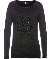 pullover con paillettes (grigio) - bpc selection