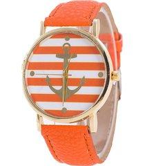 reloj ancla naranja sasmon re-24006