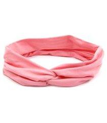 headband bijoulux turbante rosa