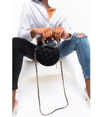 akira circle quilted purse