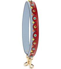 dolce & gabbana women's colorblock leather purse strap - corn flower