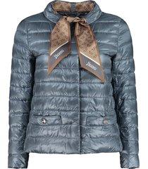 herno scarf detail short down jacket