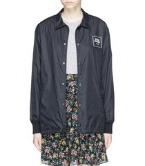 logo print nylon coach jacket