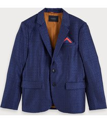 scotch & soda blazer met logojacquard
