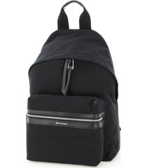 palm angels cotton backpack with logo