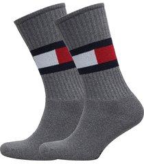 th flag 1p underwear socks regular socks grå tommy hilfiger