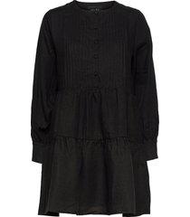 aria linen dress kort klänning svart ella&il